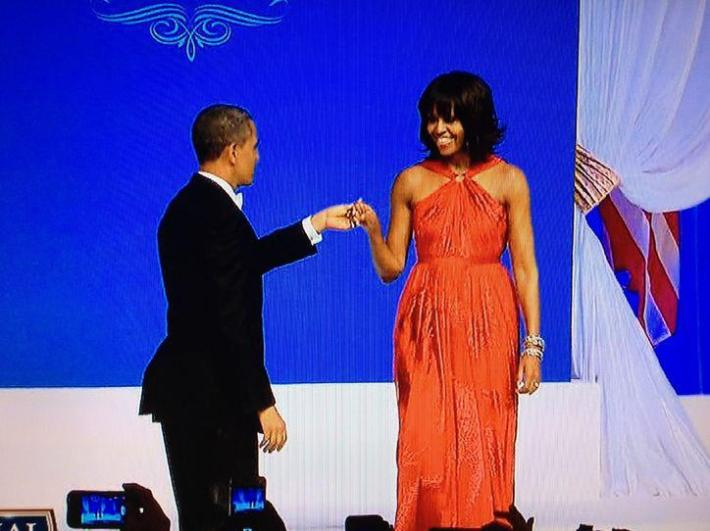 First Lady Michelle Obama wears Jason Wu