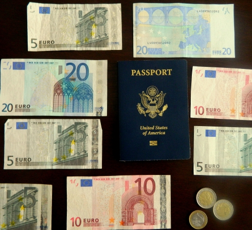 Ready for our trip.  Passports, check, Euros exchanged.